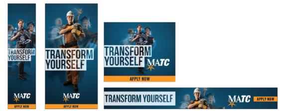 MATC Various Transform Yourself Ads