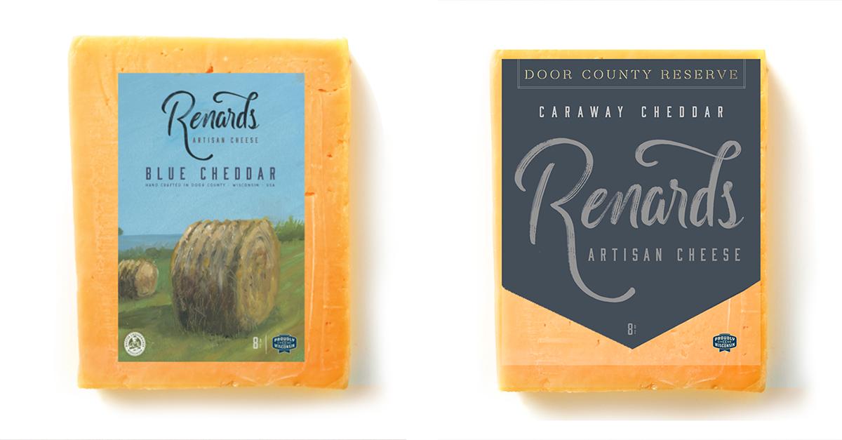 renards cheese brand packaging